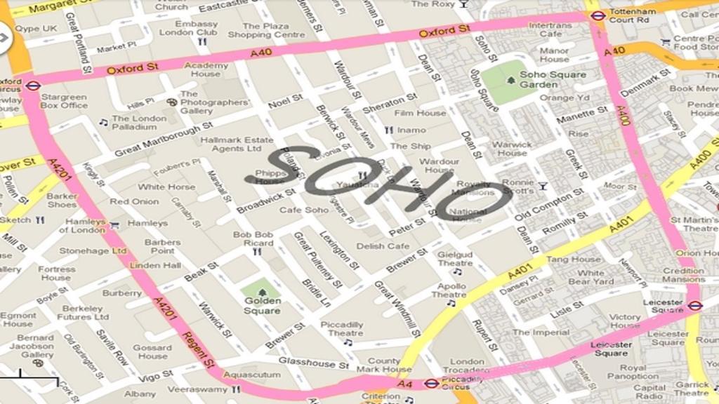 Map Soho London.Apartment Soho London Uk Booking Com