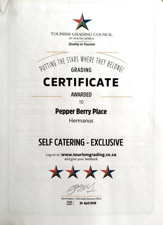 Pepper Berry Place Hermanus 2018