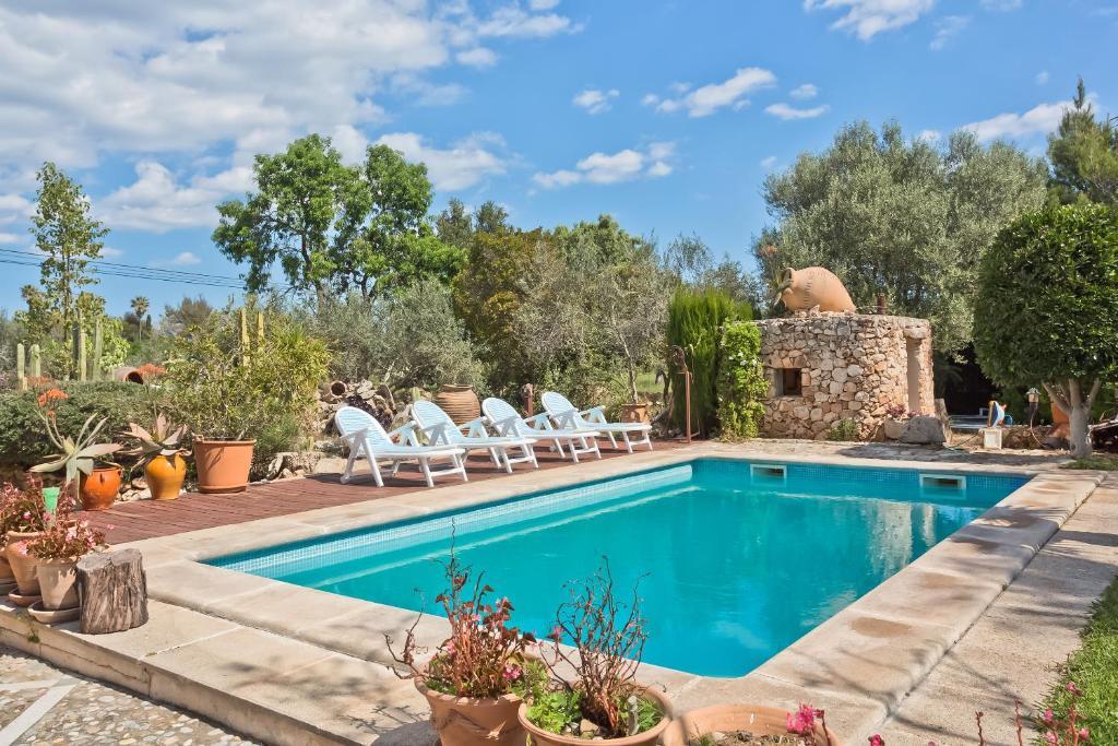 The swimming pool at or near Villa Erika