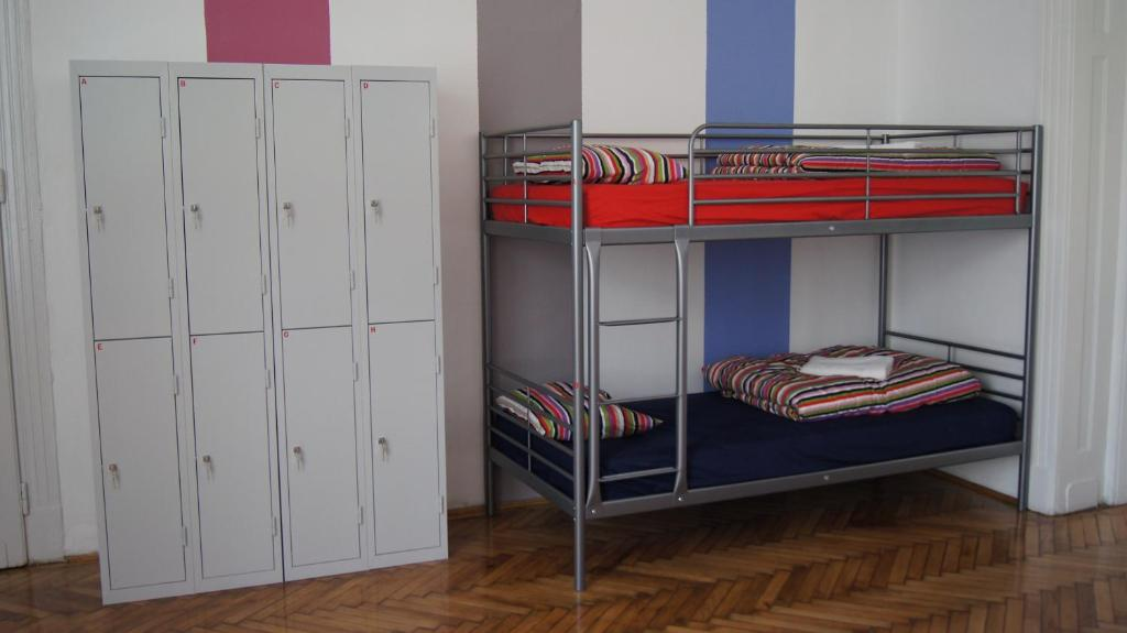 A bunk bed or bunk beds in a room at Westend Hostel