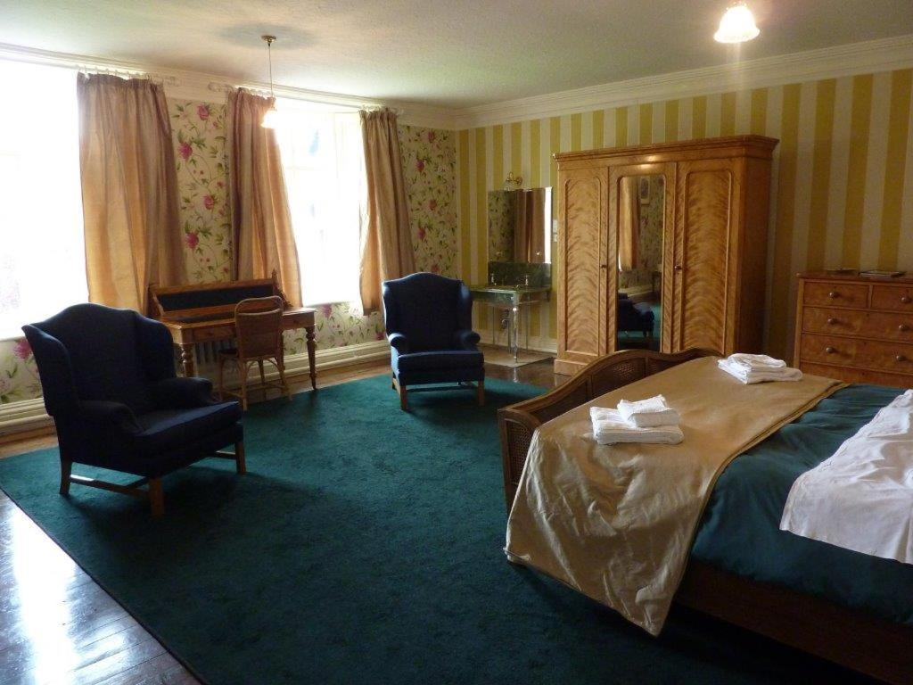 A seating area at Gregynog Hall