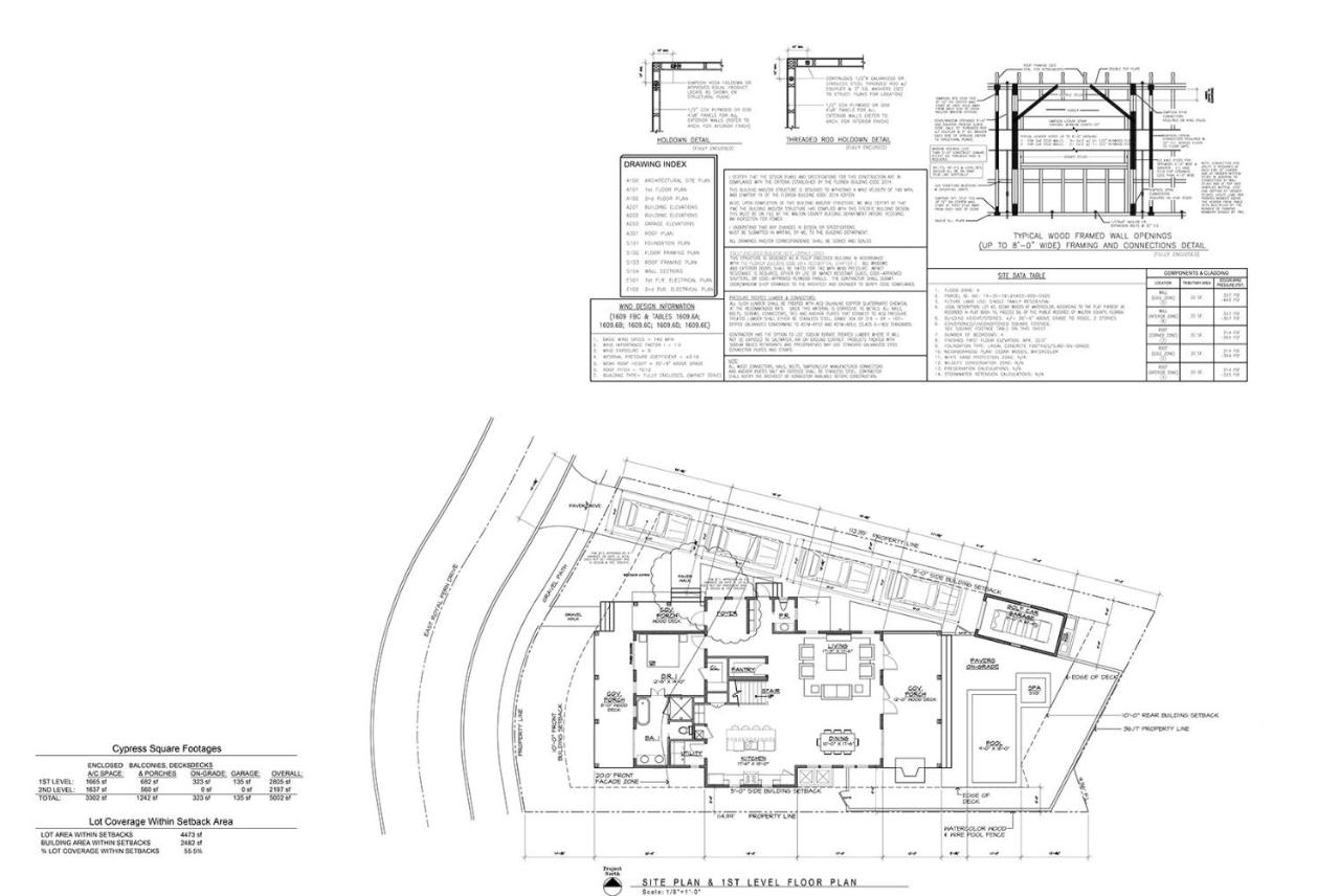 Vacation Home Watercolor 478 East Royal Fern Seagrove Beach Wall Schematic Engineering Diagram Fl