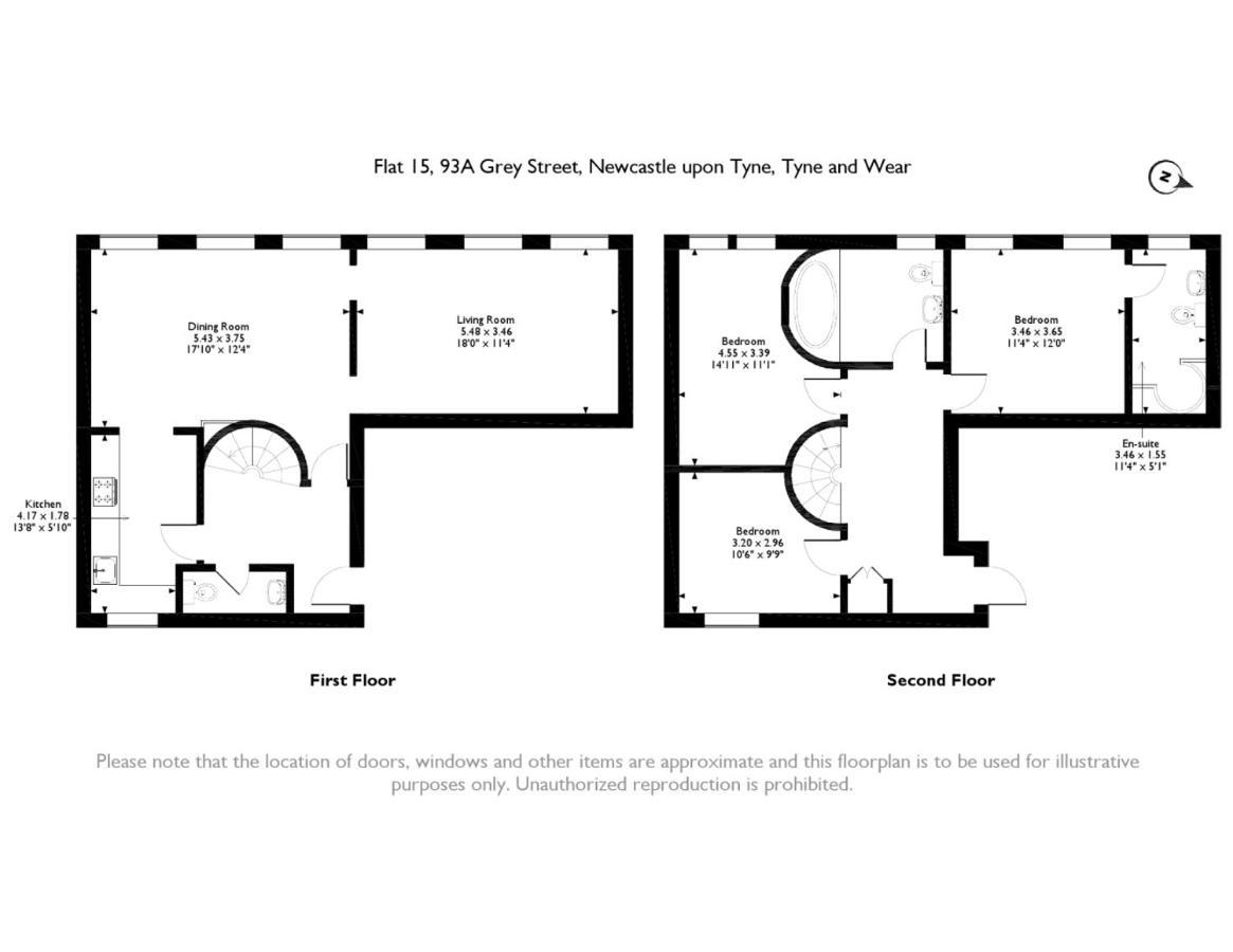 3 Bed Up Market Penthouse Apartment On Grey Street Newcastle Upon Tyne UK