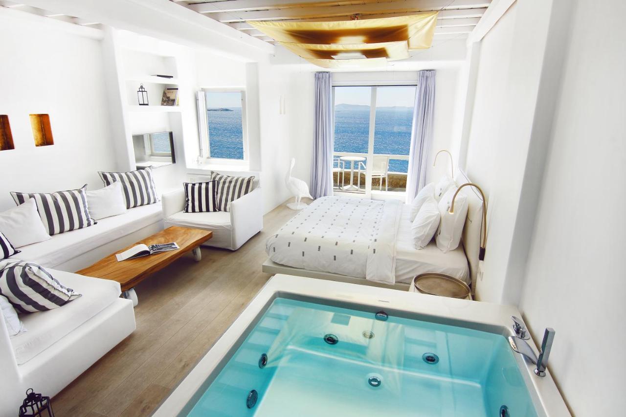 Hotell Cavo Tagoo Mykonos (GRE Mykonos stad) - Booking.com : bubbelbad utomhus : Inredning