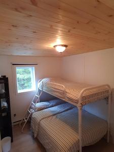 Krevet ili kreveti na kat u jedinici u objektu Chalet sur le Lac