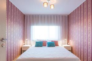 Voodi või voodid majutusasutuse Tammsaare apartment toas