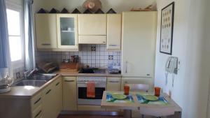 Een keuken of kitchenette bij Apollonia apart-hotel