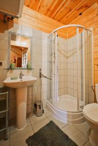 A bathroom at Domki Agat