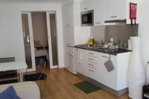 Кухня или мини-кухня в Alfama T1 Travel