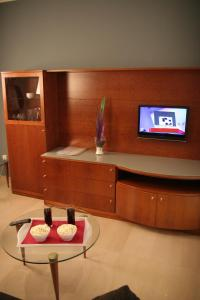 A television and/or entertainment center at Aparthotel Napols - Abapart
