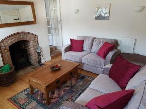 A seating area at Flint Cottage