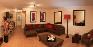 A seating area at La Loggia Gateway Apartments