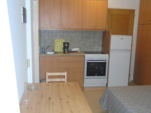 A kitchen or kitchenette at Socrates Family Apartments