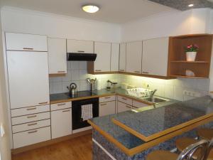A kitchen or kitchenette at Apartment Hbf Salzburg