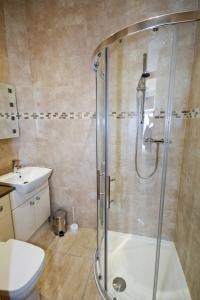 A bathroom at Llys Bedw - Birch Court