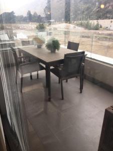 A balcony or terrace at Apartament Santiago Las Condes