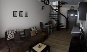 A seating area at Apartament w Villa Marea