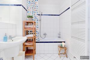 Ein Badezimmer in der Unterkunft Berlin Center