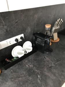 Vonios kambarys apgyvendinimo įstaigoje Laisves Luxury Apartaments