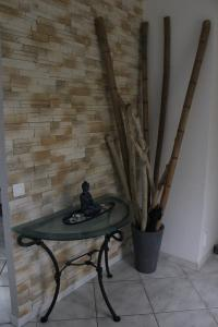 Coin salon dans l'établissement La villa Bouddha Bamboo