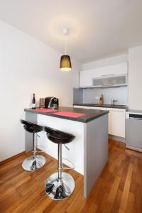A kitchen or kitchenette at Modern flat near Prague Castle