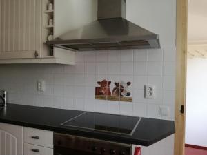 Een keuken of kitchenette bij Stal Zwartschaap