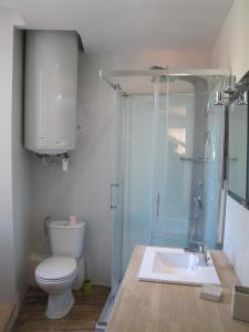 Salle de bains dans l'établissement Appartement de charme à la montagne
