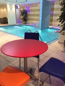 The swimming pool at or near Romance Chalet
