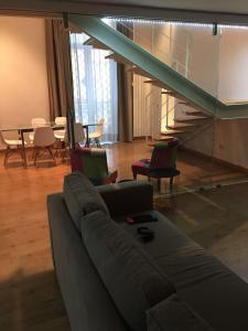 A seating area at loft in PALAZZO TRINA 1600d.c.