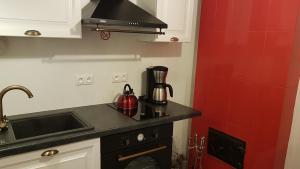 Köök või kööginurk majutusasutuses Kooli 19 Apartment