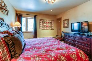 A television and/or entertainment center at Vail Village Condo