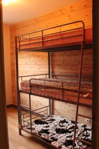 A bunk bed or bunk beds in a room at Les Carlines II