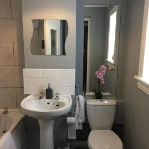A bathroom at West Field Apartment