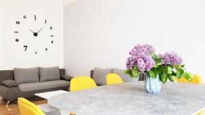 Area tempat duduk di Cosy Apartment in Berlin, 3 rooms