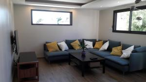 A seating area at La mouette