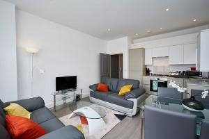A seating area at Camberley Luxury Apartments
