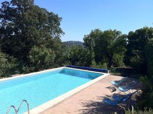 The swimming pool at or near Gîtes du Mas Icard