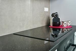 A kitchen or kitchenette at Novis Apartments Przy Arkadii