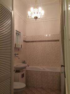 A bathroom at Prague Crystalette Apartment