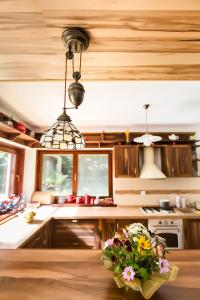 A kitchen or kitchenette at Holiday Home Mountain Retreat