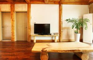 A television and/or entertainment center at Nokcha Resort