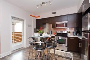 A kitchen or kitchenette at Popular Hollywood Blvd Superstar Suite
