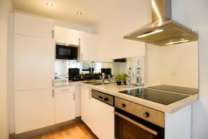 A kitchen or kitchenette at Vienna Central Apartments