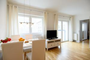 A television and/or entertainment center at Vienna Central Apartments