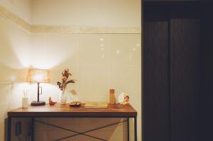 大阪川House旅行主題公寓廚房或簡易廚房