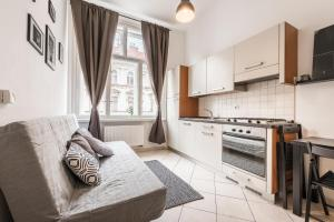 A kitchen or kitchenette at Tyrsova Apartment