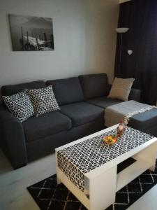 A seating area at A lovely one-room apartment near the city centre.