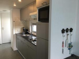 A kitchen or kitchenette at Chalet Zeester J38 Ameland