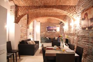 A restaurant or other place to eat at MH Apartments Central Prague