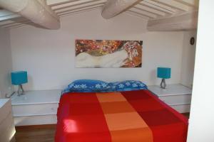 Кровать или кровати в номере Casa Indipendente 50 Metri Dal Mare